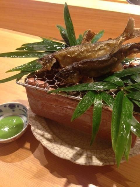 鮎料理の写真