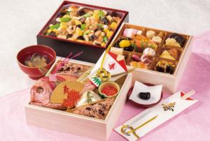 正直屋のお食い初め二段とちらし寿司セット