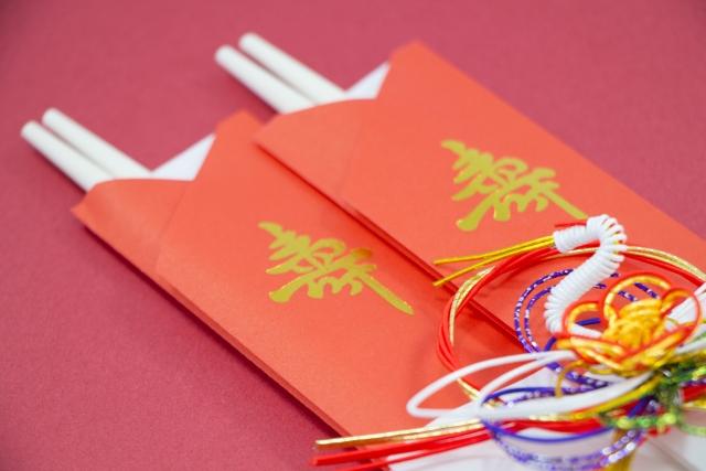 お祝いの時に使用する祝い箸の画像