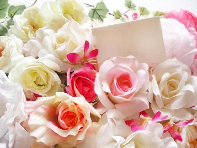 花束とお手紙の写真